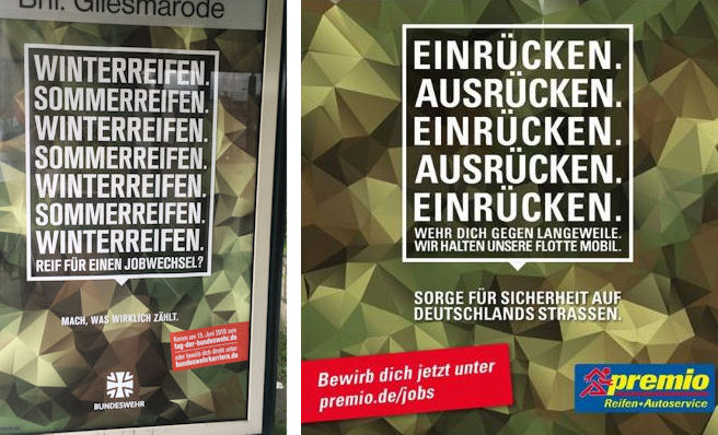 Tyre retailer returns fire after attack from German army