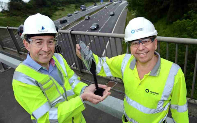 UK testing motorway made from recycled tyres