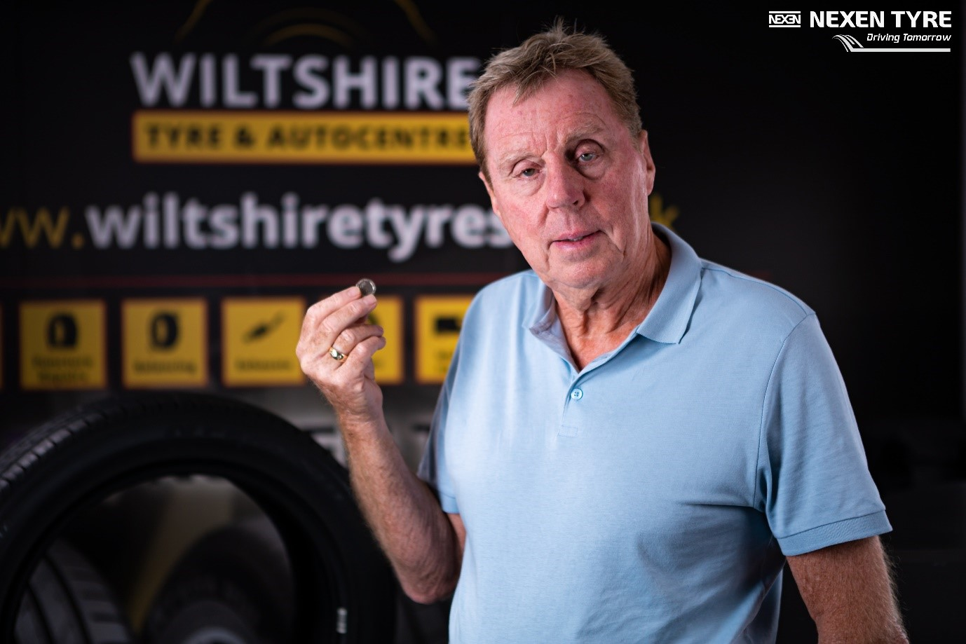 Harry Redknapp learns Tyre Safety tricks