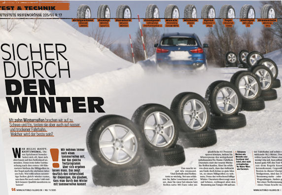 Auto Bild Allrad test: Finding the right winter tyre