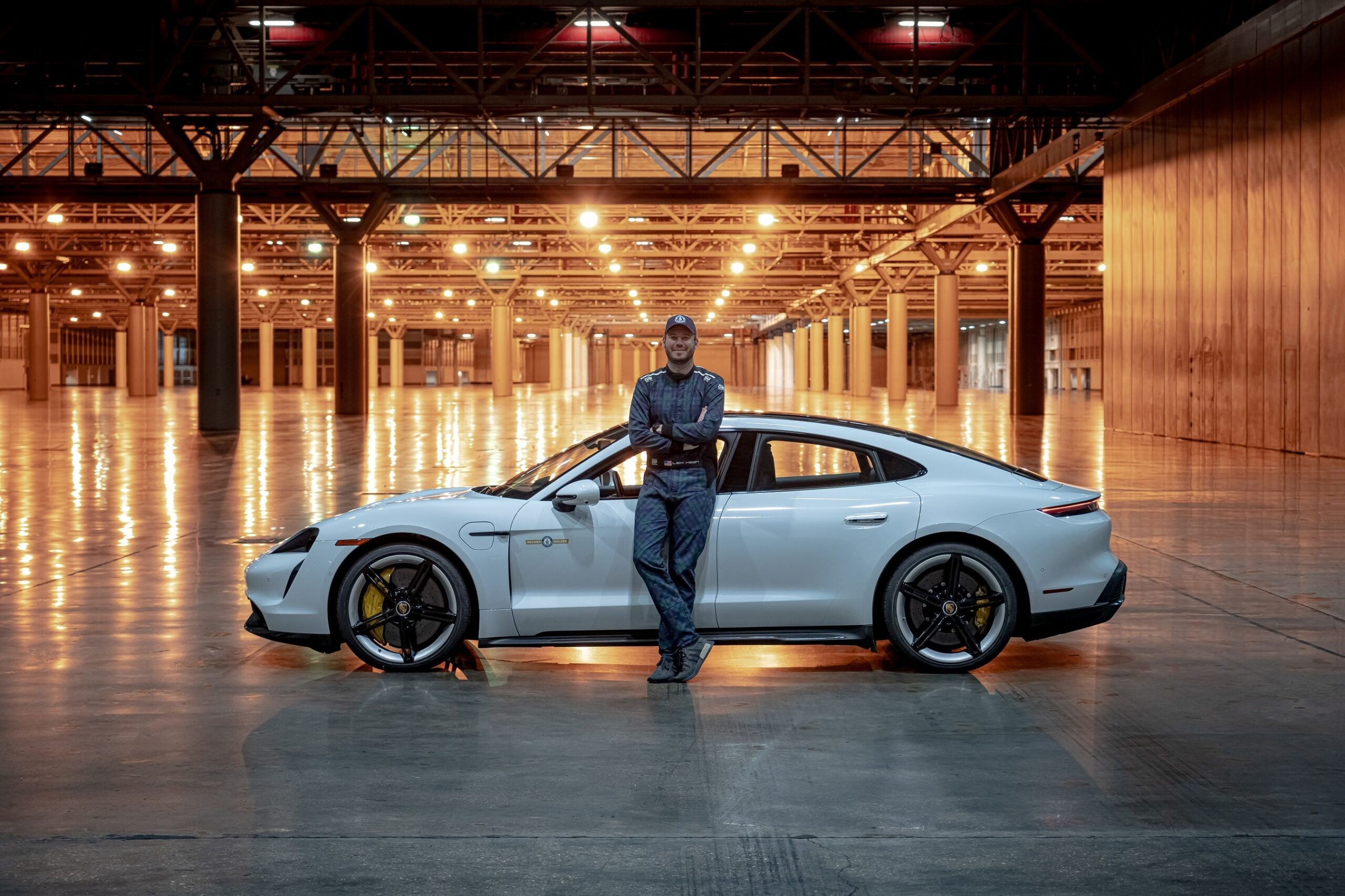 Did Pirelli tyres carry Leh Keen's Porsche Taycan to 102mph indoor land speed record?