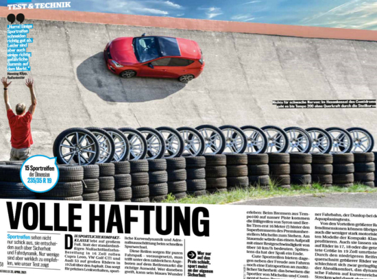 Performance tyres for compact cars – Auto Bild test
