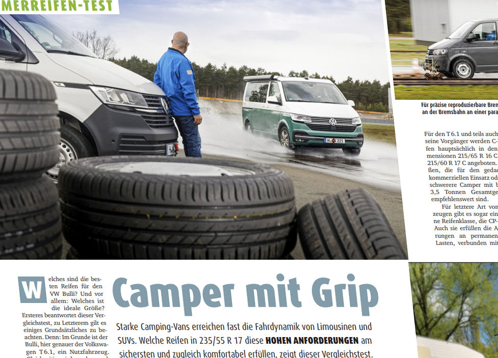 Promobil compares tyres for van-based campers