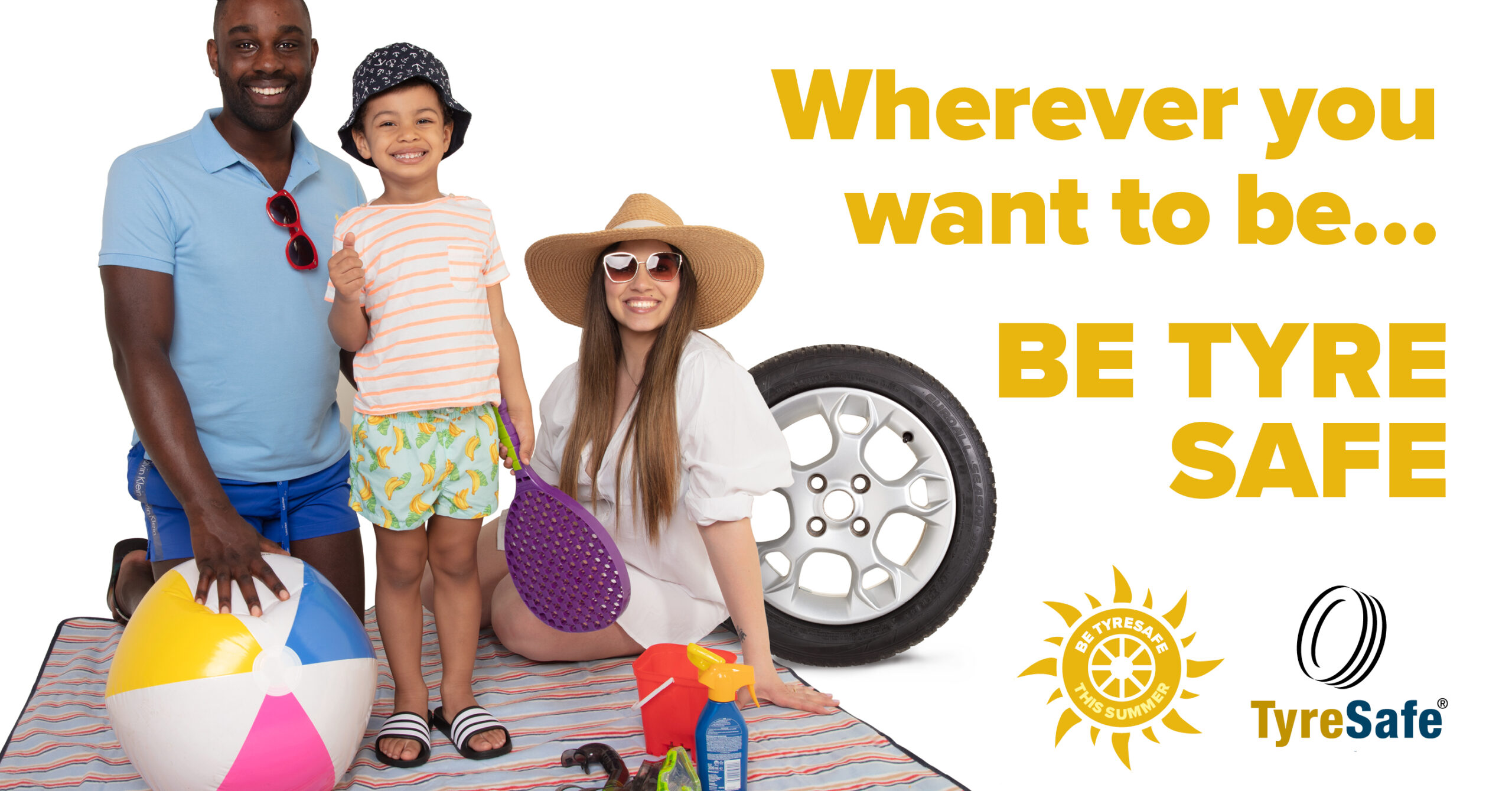 TyreSafe's summer holiday message: wherever you want to be this summer, be tyre safe