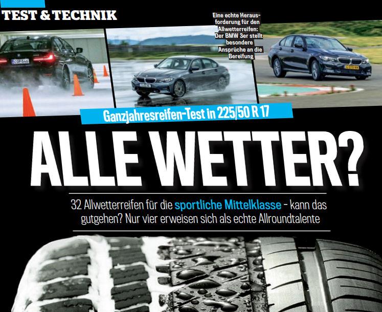Auto Bild test: All-season tyres for mid-sized cars